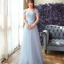 Vestido De Festa New Light Green Bridesmaid Dress Long Sexy Sweetheart  Elegant Tulle Prom Party Gown a8b4d0593662