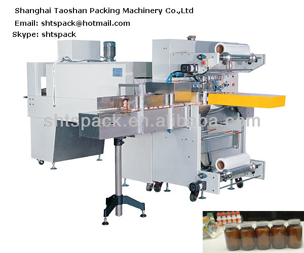 Shanghai Taoshan TS 6030A automatic film sleeve shrink bottles wrapping machine