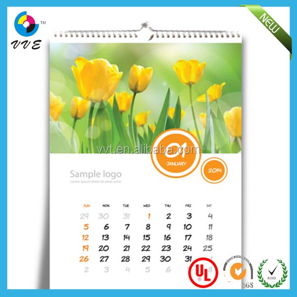 Perfect Creative Wall Calendar Design 2014 Spiral Binding S With Ideas