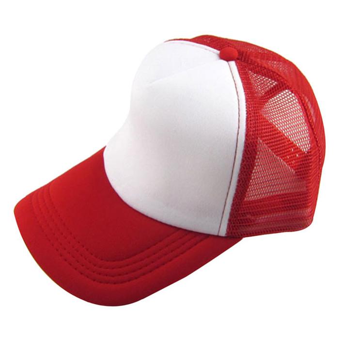 Привлекательный унисекс свободного покроя шляпа твердые бейсболка дальнобойщик сетки пустой козырек шляпа регулируемые 17 июня