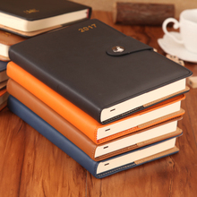 2018 Black Leather Custom Journal Book Diary Notebook Printing For Office Bank Promotion