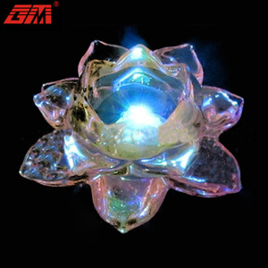 Home decor decorating crystal lotus candle tea light holder