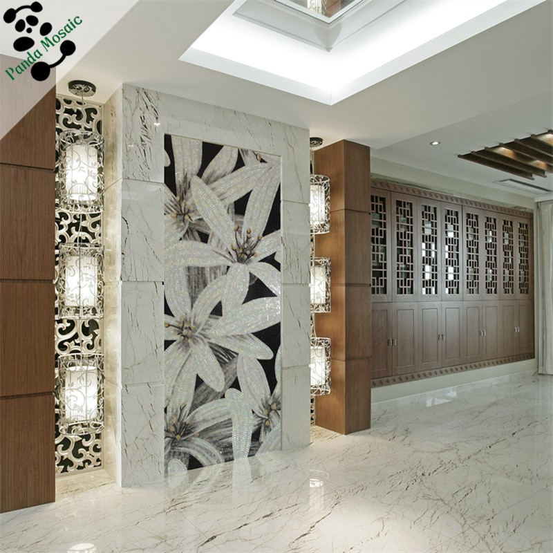 Mb smm09 a sala de jantar artesanal mosaico de vidro de parede ...