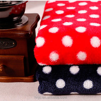 Polyester white spots flannel fabric for blanket