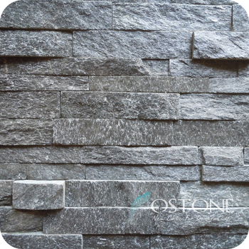 Cheap Indoor Cladding Black Natural Quartz Slate Interior Stone Walls & Cheap Indoor Cladding Black Natural Quartz Slate Interior Stone ...