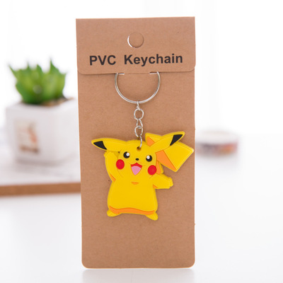 Wholesale Cute Cartoon Keychain Soft PVC Keychain for Promotion Gift