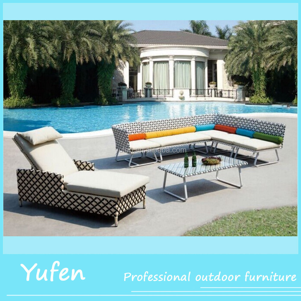 Good Cheap Fancy Outdoor Furniture High Back Rattan Sofa Set