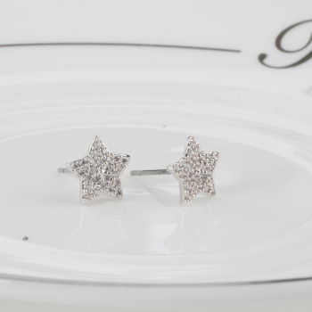Whole Crystal Jewelry Star Shape Diamond New Design Ish Tops Cute Stud Earrings