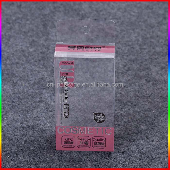 eyelash curler Clear PVC Box packaging with hanger