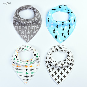 Adjustable size Feeding towel bib baby bandana drool bibs 4 pack Baby Gauze Bibs