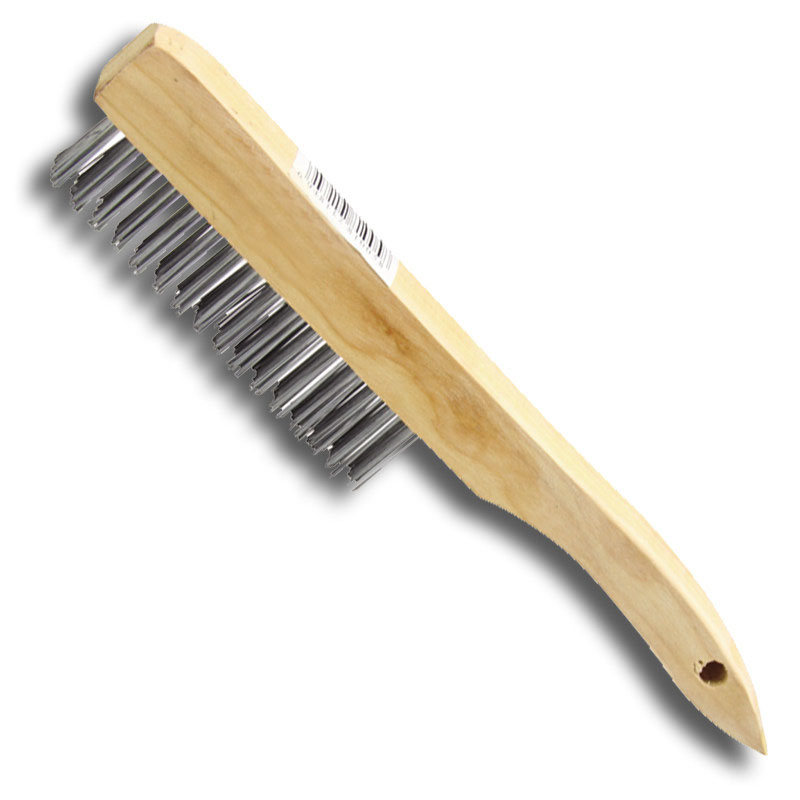 Wooden Handle cleaning tool steel Wire Brush