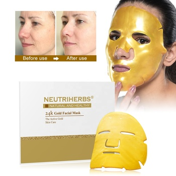 Wholesale Face Skin Care Moisturizing Collagen Organic Face Gold Mask 24