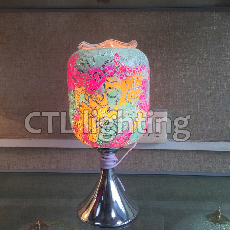 zhongshan modern dimmable bedside lamps glass table lamp for home decor