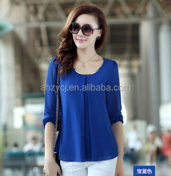 Fashion Design New Blouse Summer Ladies Chiffon Shirts Buy Chiffon Shirts Ladies Office Blouse Shirt Ladies Formal Chiffon Shirt Design Product On Alibaba Com