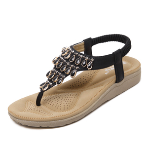 8aa027e3c Fashion Women Shoes Comfort Weave Customized Slip On Beach Ladies Flat  Sandals In China