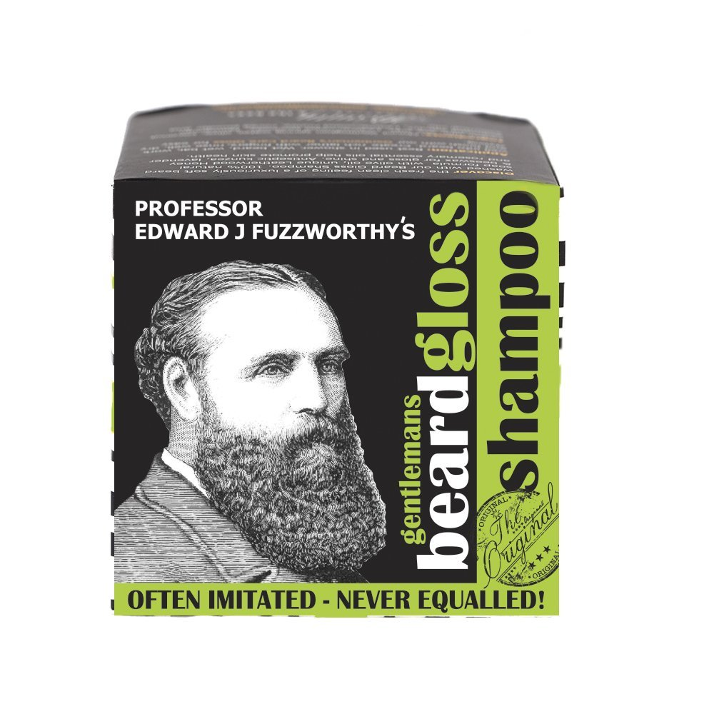 NEW Apple Tonic Fresh Scent Beard Shampoo Bar by Professor Fuzzworthy 100% Natural with Essential Plant Oils Healthy Ingredients for Beard Growth   Best Deal - Beard Shampoo equal to 27 fl oz