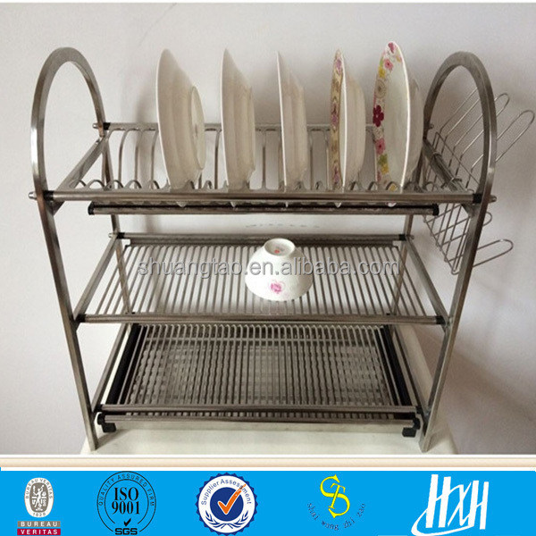 Practical Metal Hanging Dish Rack, Wall Mount Dinner Plate Storage Holder