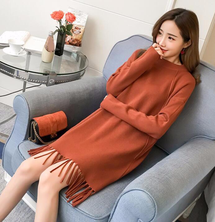 03824016a2 Up-0212d Grasa Dama Casual Vestido De Invierno Suéter Largo Diseño ...