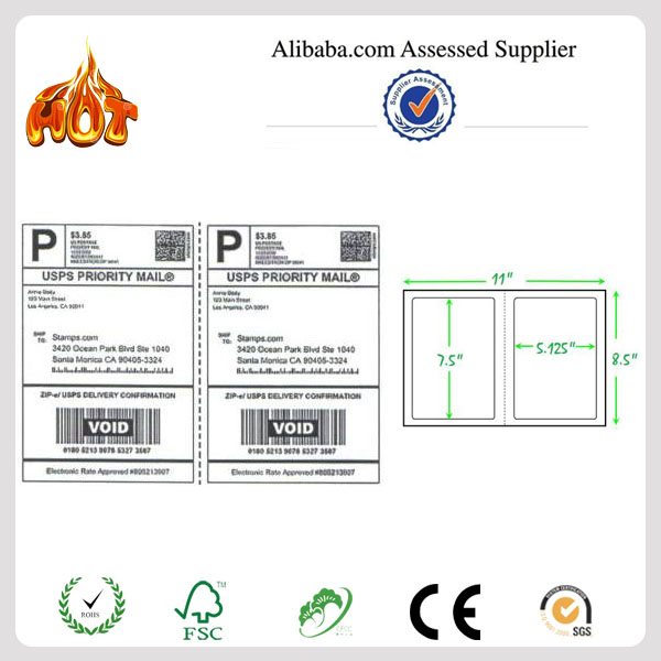 A4 Matte Adhesive paper Internet Shipping Labels for eBay USPS UPS FedEx