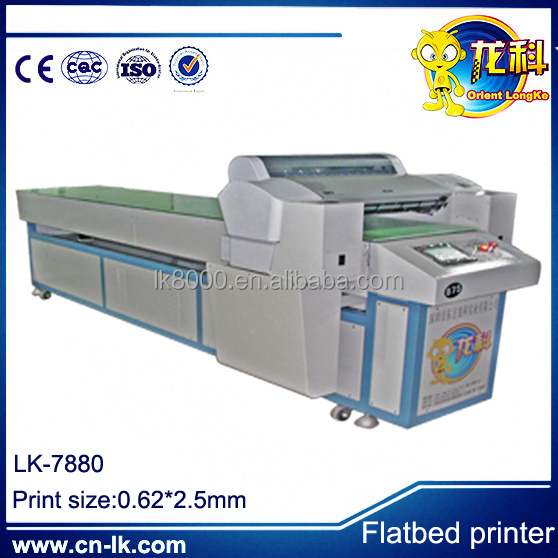 acrylic digital flatbed printing machine / high resolution infinity solvent printer/ceramic digital inkjet printing machine