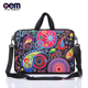 15 Inch custom printed neoprene Laptop Shoulder Sleeve Messenger Bag Case With Handle and extra side pocket