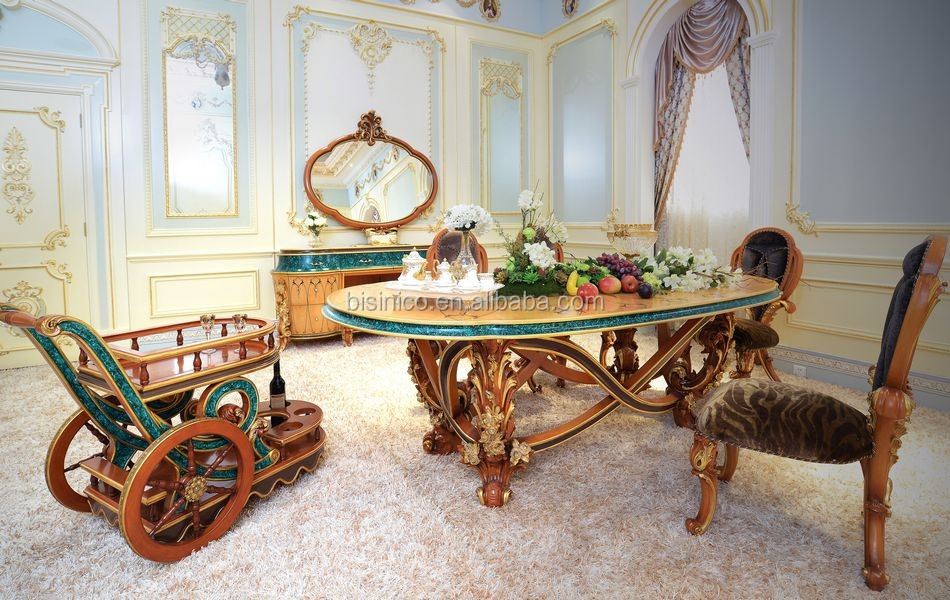 Fabulous Italy Baroque Design Marquetry Dining Room Furniture ...