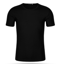 wholesale good quality black men's plain t-shirt for promotional