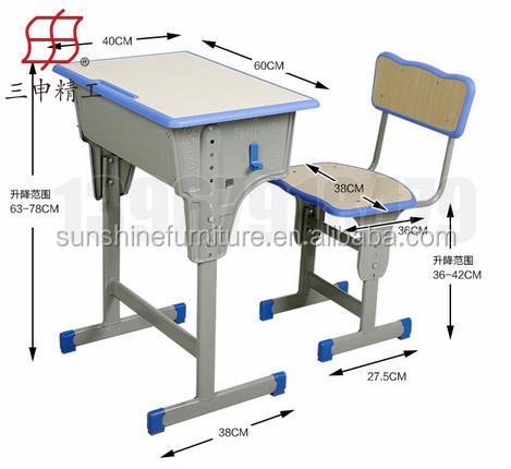 2015 venta caliente factary moderno barato sola escuela for Medidas estandar de escritorios de oficina