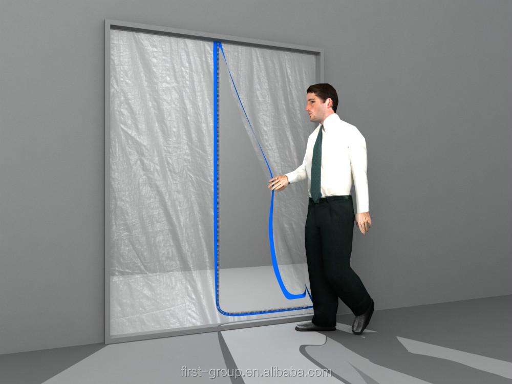 U-shape L-shape Reusable Zipper Doors for Dust Containment/High quality dust & U-shape L-shape Reusable Zipper Doors For Dust Containment/high ... pezcame.com