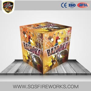 Wholesale SQS1825 Thailand Fireworks 25 Shots BAZOOKA CE Approved Cake Fireworks