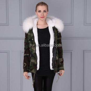 Neue Ankunft Weißes Fell Innen Mantel Werden Warm Im Winter Camouflage Military Parka Buy Frauen Winter Jacke Mit Waschbären Pelzkragen,Mode Frauen