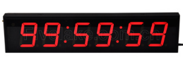 Hot sell 4 Inch 6 Digit  LED  Wall Clock       Display