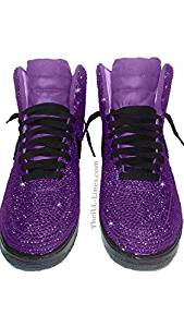 Custom Nike Shoes, Nike Swarovski, Rhinestone Nike, Hot Pink Nike, Trisha Paytas Nike Shoes, Nike Crystal Shoes