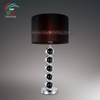Crystal Table Lamp Black Shade And Body