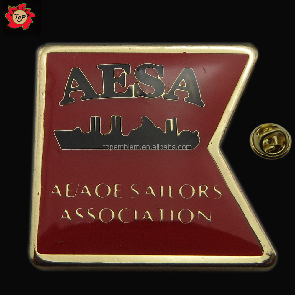 Lapel pins badge for AESA association with competitive price
