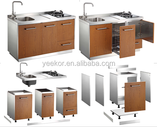 304 stainless steel single kitchen cabinet buy kitchen for Single kitchen cabinet