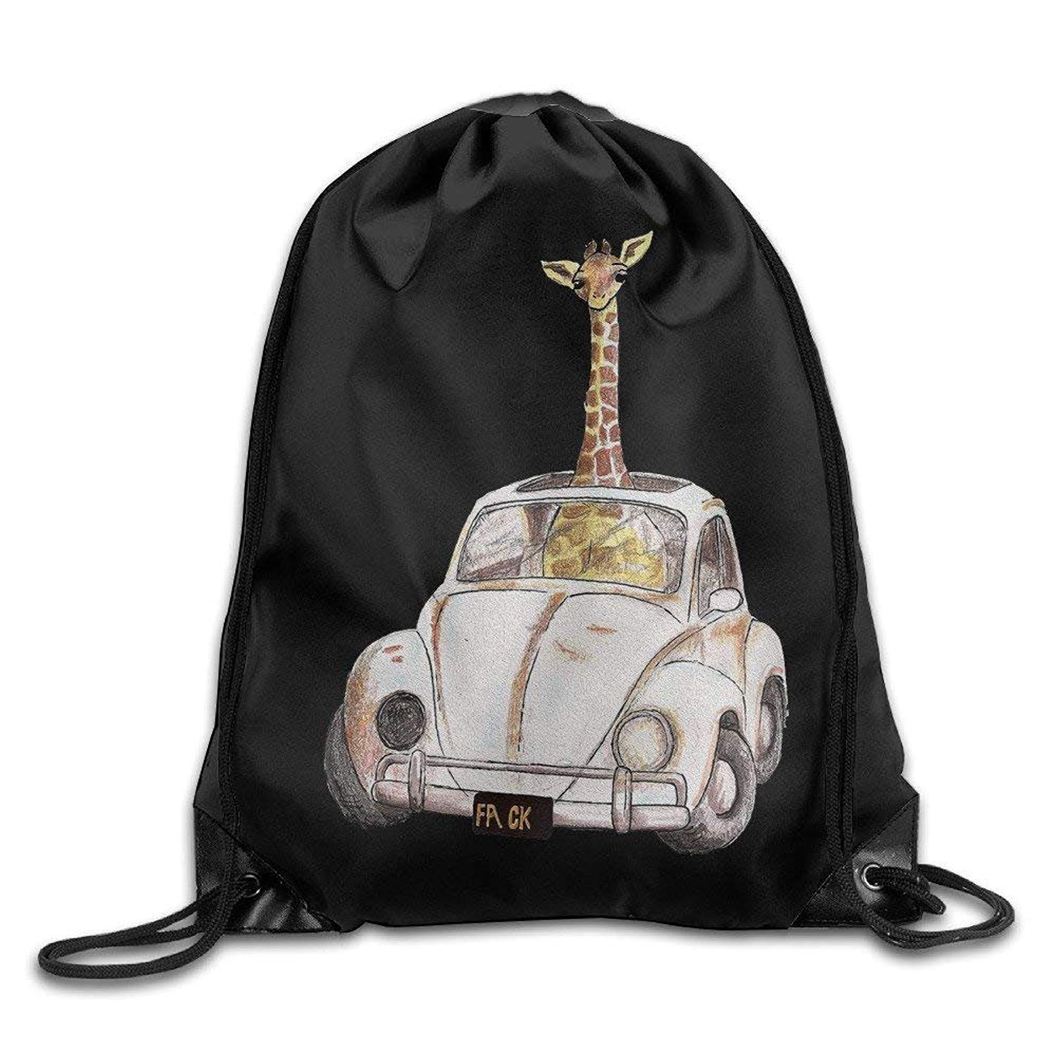 f18edbcf55 Get Quotations · Cool Drawstring Backpack Cute Giraffe Art Design Print Drawstring  Backpack Rucksack Shoulder Bags Gym Bag