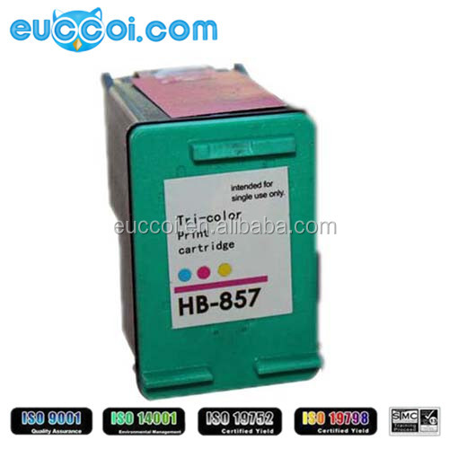High quality for HP 857 ink cartridge C9363ZZ remanufactured printhead printer ink cartridge for HP Deskjet 325/375/2068/2358