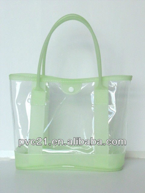 Fashion Transparent PVC Beach Bag /Candy Jelly Bag Silicone Bag