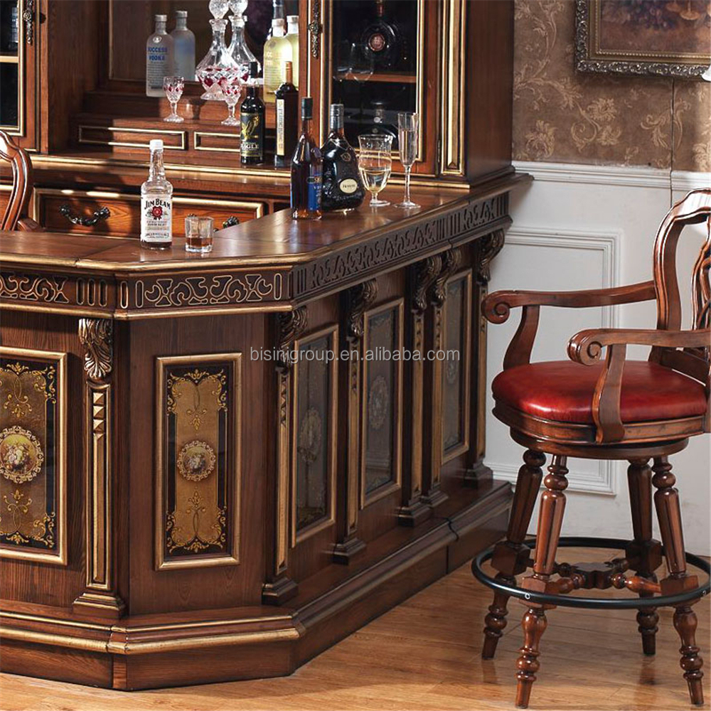 American countryside style bar counter set wooden wine
