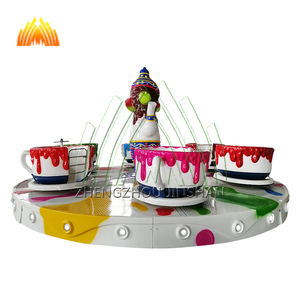 Park Use Kiddie Coffee Tee Cup Rides For Amusement Places