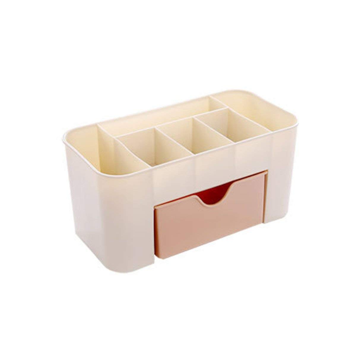 Storage Case, Storage Box, Plastic Storage Cabinets, Non-slip Bottom Small Drawer, 2- Layer Dressing case Small Things Organizer Desktop Boxes for Cosmetics, Small Things - Pink