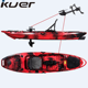 Kuer wholesale10ft foot pedal kayak with seat and fishing accessories