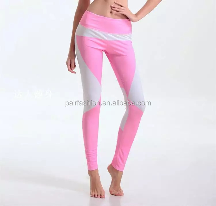 OEM women's fitness pink running leggings gym tights womens