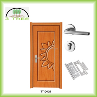Out door cost saving thermo PVC wood door