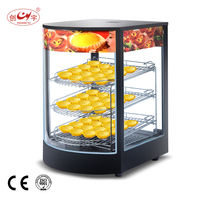 Chuangyu Alibaba China Supplier Electric 3 Plate Mini Warming Cabinet Food Showcase For Cooking Equipment