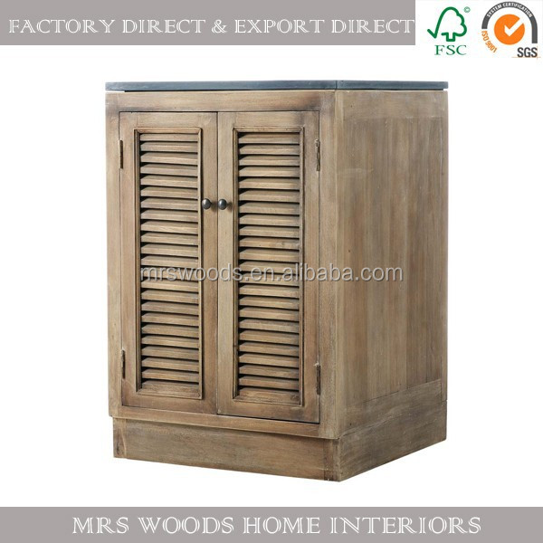 high quality soild wood french style antique kitchen cupboard
