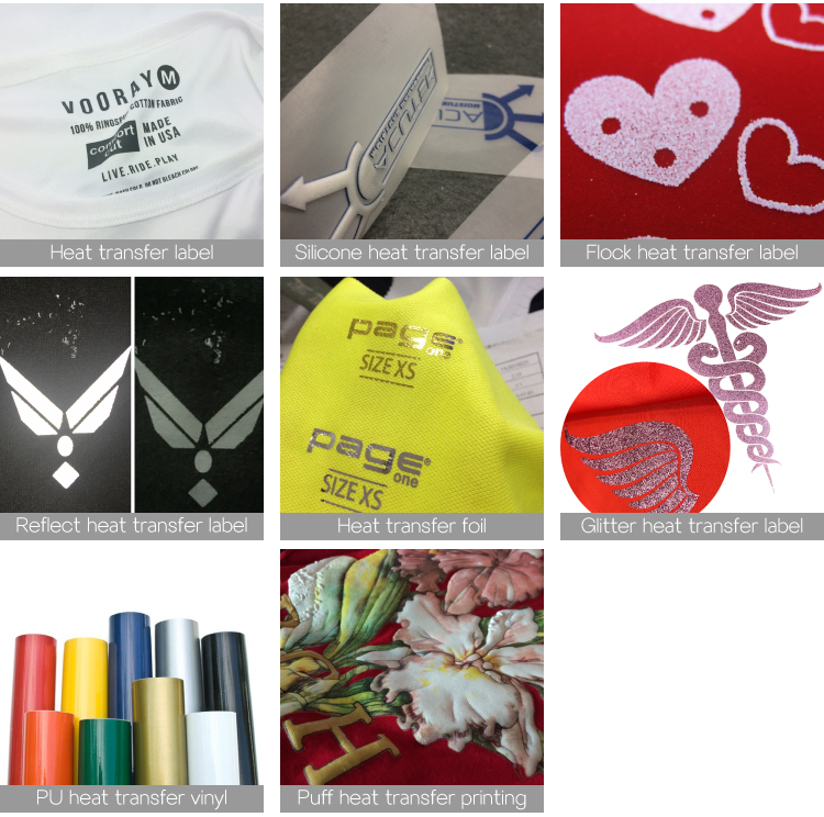 cheap custom screen printed designs plastisol iron on  clothing label papers transfer printing heat transfer for tshirts