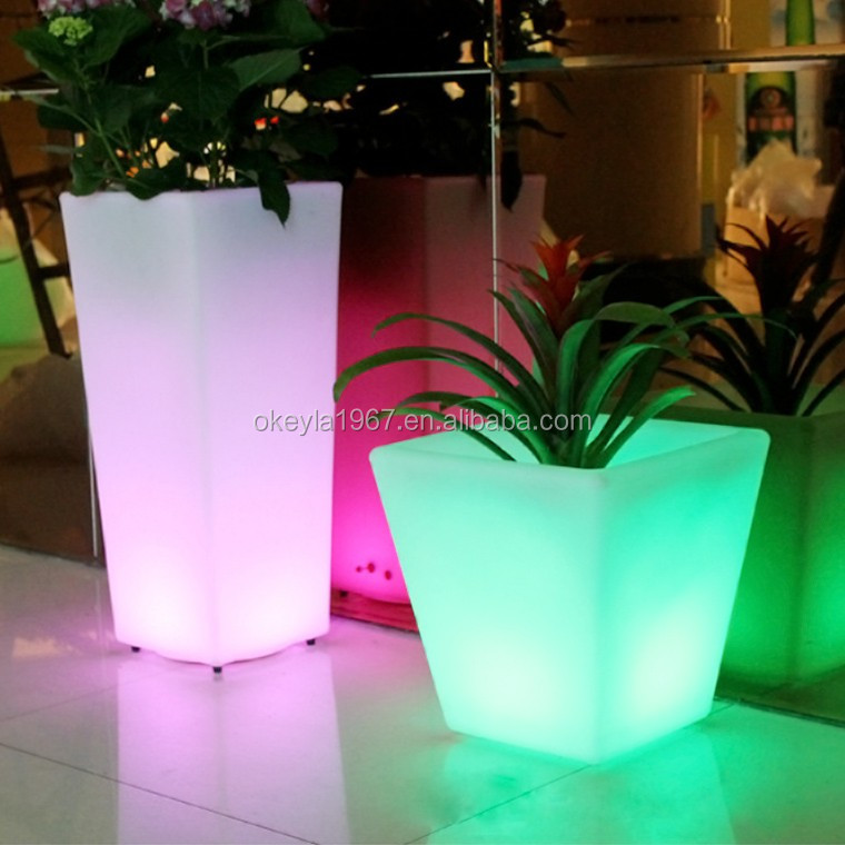 Dongguan Rechargeable Led Flower Pot /led Planter With Remote ...