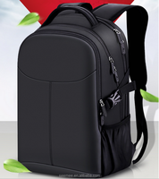 All Black High Quality Waterproof Nylon Business Laptop Backpack